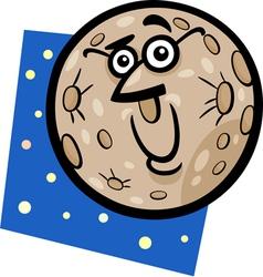 funny mercury planet cartoon vector image