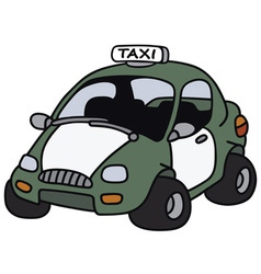 Funny taxi vector