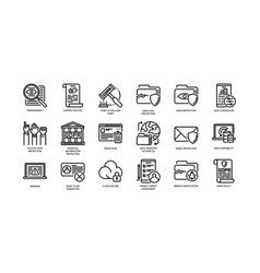 Gdpr icons vector