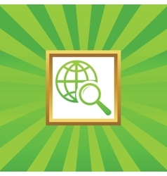 Global search picture icon vector