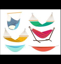 hammock set comfort lifestyle outdoor bed rest vector image