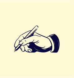 hand writer sketch retro vector image