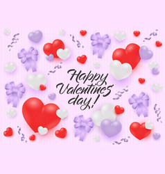 happy valentines day congratulation banner with vector image