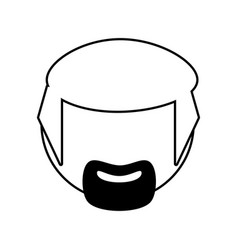 Head male avatar outline vector
