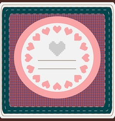 Hearts Valentine Day greeting card vector