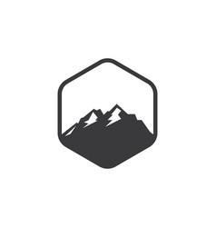 High mountain icon logo design vector