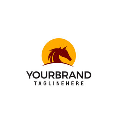 Horses logo design template vector