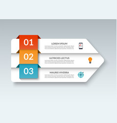 infographic arrow banner with 3 options vector image