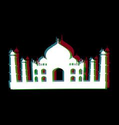 isolated taj mahal silhouettte vector image