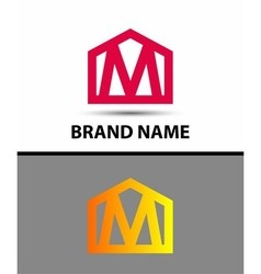 Letter M logo real estate symbol vector image