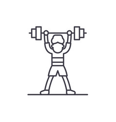 lift barbell line icon concept lift barbell vector image