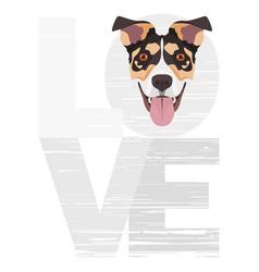 Love jack russell terrier vector