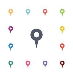 Map pin flat icons set vector