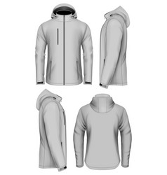 men softshell jacket with hood vector image