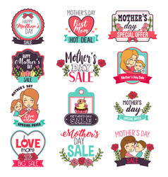 mother day sale sign clipart vector image
