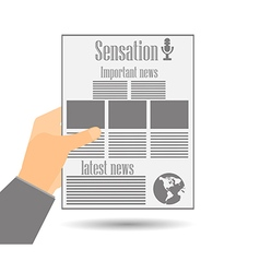 Newspaper in hand vector