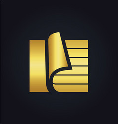 paper document data storage gold logo vector image
