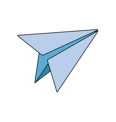 paper plane school creativity idea icon vector image vector image