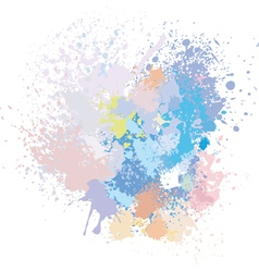 Pastel background paint splashes vector
