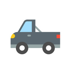 Pickup truck transportation icon flat design vector