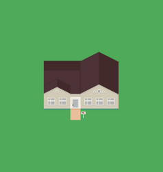 Pixel art house vector
