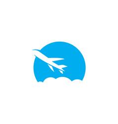 plane ilustration logo vector image