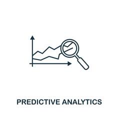 Predictive analytics icon thin line style vector