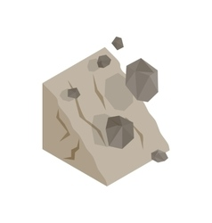 Rockfall icon isometric 3d style vector image