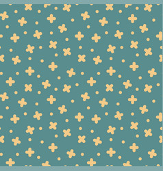 Seamless cross pattern in retro memphis vector