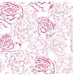 seamless pattern pink gentle flowers vector image