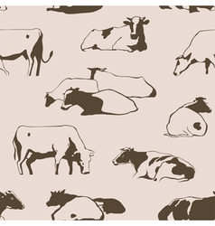 Seamlesscows vector image