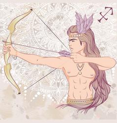 sign sagittarius as a man vector image