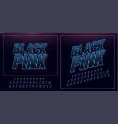 sport future neon modern alphabet fonts vector image