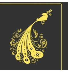 Symbol Big Bird with Tail Pattern vector image