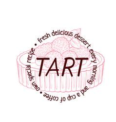 tart dessert with berries icon cartoon vector image