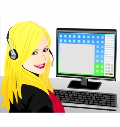 telephone operator vector image