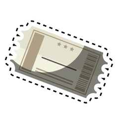 Ticket cinema paper isolated icon vector