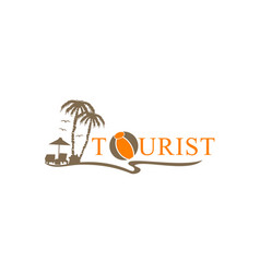 tourist beach vector image