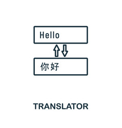 translator outline icon thin line concept element vector image