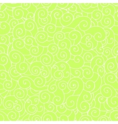 Whorl doodle pattern green vector