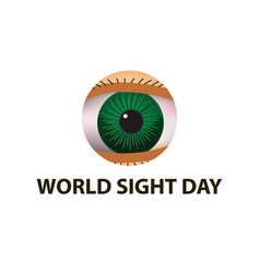 World sight day october 11 eye anatomical vector