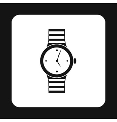 Wrist womens watch icon simple style vector