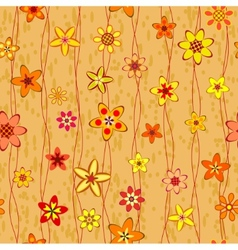 abstract flowers seamless pattern vector image vector image