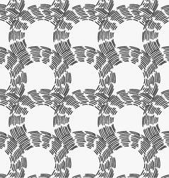 Black marker hatched arc cells vector image