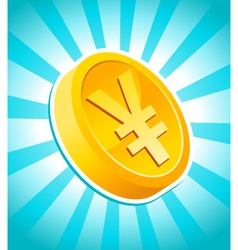 yen gold coin vector image vector image