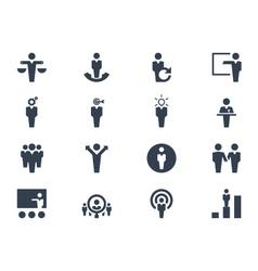 Human resource icons vector image