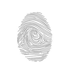 set of fingerprints icons id security identity vector image vector image