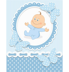 Smiling baby boy vector image vector image