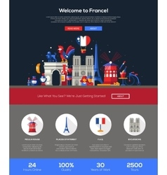 Traveling to France website header banner with vector image vector image