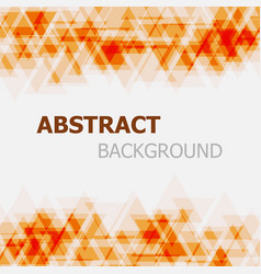 abstract orange triangle overlapping background vector image vector image